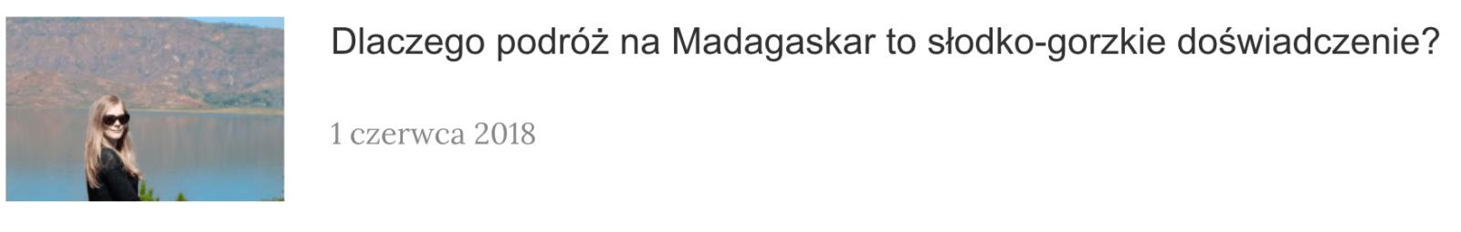 CO ZOBACZYĆ NA MADAGASKARZE