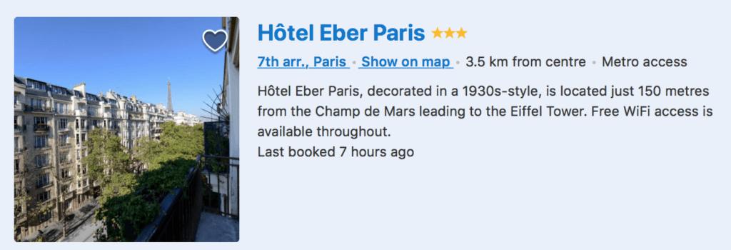 HOTEL W PARYZU Z WIDOKIEM NA WIEZE EIFFLA-1