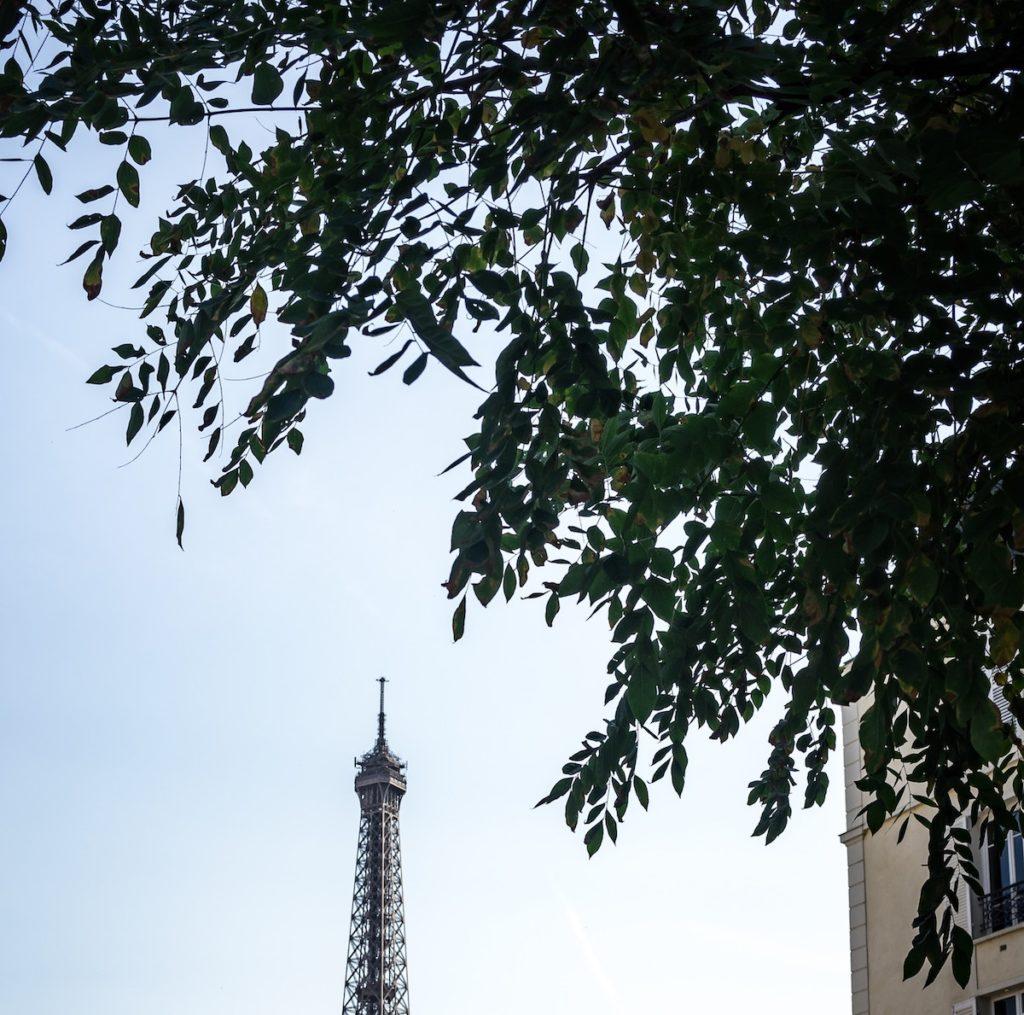 Hotel w Paryżu z widokiem na wieżę Eiffla